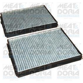 Filter, Innenraumluft Länge: 256mm, Breite: 190mm, Höhe: 30mm mit OEM-Nummer 6411 8391 198