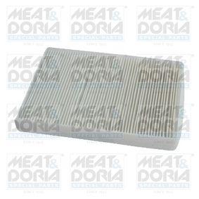MEAT & DORIA Filter, Innenraumluft 17300 für AUDI Q7 (4L) 3.0 TDI ab Baujahr 11.2007, 240 PS