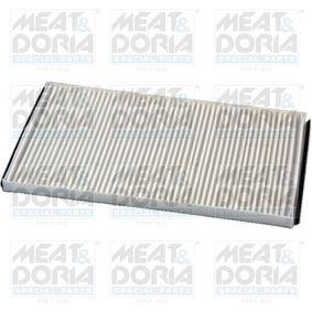 Filter, Innenraumluft Länge: 268mm, Breite: 148mm, Höhe: 12mm mit OEM-Nummer 4596501AC