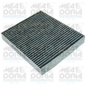 Filter, Innenraumluft Länge: 24mm, Breite: 20,5mm, Höhe: 3,5mm mit OEM-Nummer 13 27 1191