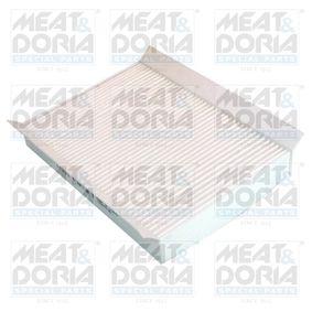 Filter, Innenraumluft Länge: 218mm, Breite: 155mm, Höhe: 27mm mit OEM-Nummer 6821 2070AA