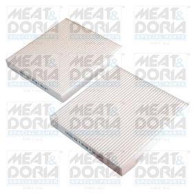 MEAT & DORIA  17533-X2 Filter, Innenraumluft Länge: 187mm, Höhe: 25mm