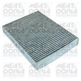 MEAT & DORIA  17536K Filter, Innenraumluft Länge: 261mm, Breite: 192mm, Höhe: 30mm