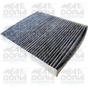 Filter, Innenraumluft Länge: 256mm, Breite: 225mm, Höhe: 35mm mit OEM-Nummer 6R0819653