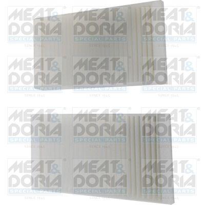 MEAT & DORIA  17575-X2 Filter, Innenraumluft Länge: 160mm, Breite: 90mm, Höhe: 30mm