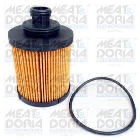 Filtro olio (14105) per per Filtro Olio FIAT GRANDE PUNTO (199) 1.3 D Multijet dal Anno 10.2005 75 CV di MEAT & DORIA