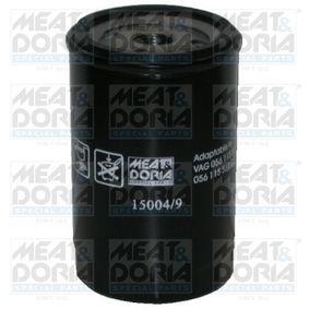 MEAT & DORIA Ölfilter 15004/9 für AUDI 80 (81, 85, B2) 1.8 GTE quattro (85Q) ab Baujahr 03.1985, 110 PS