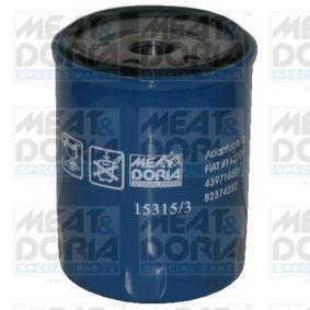 Filtro olio (15315/3) per per Tappo Monoblocco FIAT CINQUECENTO (170) 0.9 i.e. S (170AF, 170CF) dal Anno 07.1991 40 CV di MEAT & DORIA