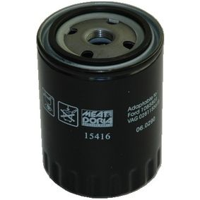 MEAT & DORIA Ölfilter 15416 für AUDI 80 (8C, B4) 2.8 quattro ab Baujahr 09.1991, 174 PS