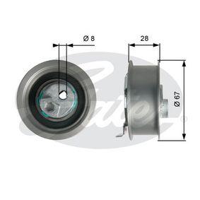 Spannrolle, Zahnriemen Ø: 67mm mit OEM-Nummer 06D 109 243 C