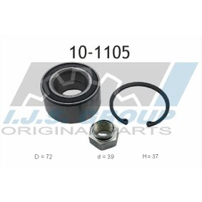 Radlagersatz Ø: 72mm, Innendurchmesser: 39mm mit OEM-Nummer 328103
