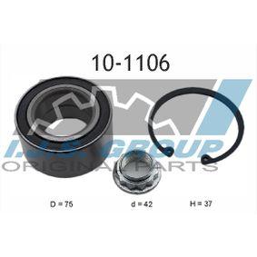 Radlagersatz Ø: 75mm, Innendurchmesser: 42mm mit OEM-Nummer 115 204