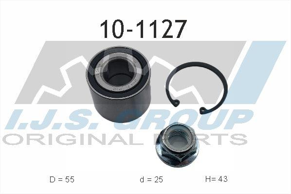 IJS GROUP  10-1127 Juego de cojinete de rueda Ø: 55mm, Diám. int.: 25mm