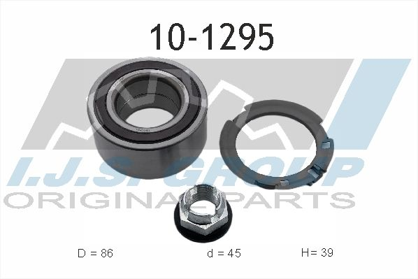 IJS GROUP  10-1295 Juego de cojinete de rueda Ø: 86mm, Diám. int.: 45mm