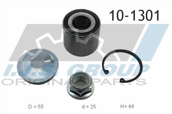 IJS GROUP  10-1301 Juego de cojinete de rueda Ø: 55mm, Diám. int.: 25mm