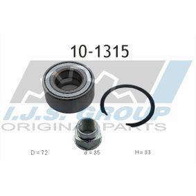 Wheel Bearing Kit 10-1315 PUNTO (188) 1.2 16V 80 MY 2004
