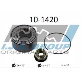 Radlagersatz Ø: 72mm, Innendurchmesser: 37mm mit OEM-Nummer 7701 464 049