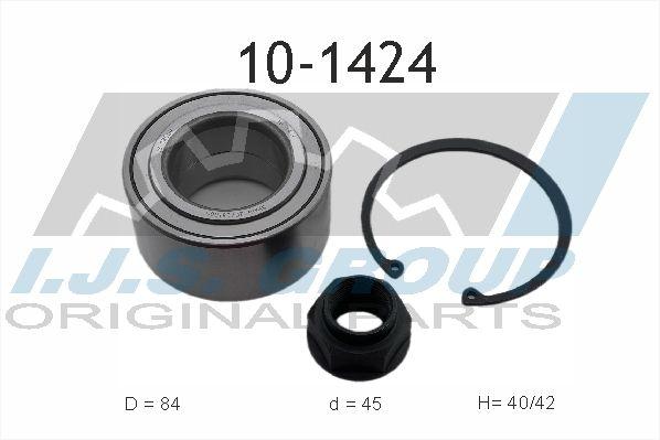 IJS GROUP  10-1424 Juego de cojinete de rueda Ø: 84mm, Diám. int.: 45mm