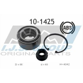 Wheel Bearing Kit 10-1425 CIVIC 8 Hatchback (FN, FK) 2.0 R MY 2017