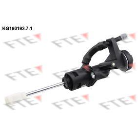 FTE Geberzylinder, Kupplung KG190193.7.1 für AUDI A4 Cabriolet (8H7, B6, 8HE, B7) 3.2 FSI ab Baujahr 01.2006, 255 PS