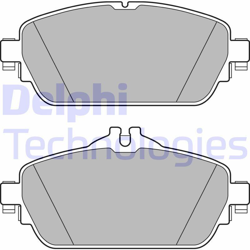 DELPHI  LP2764 Bremsbelagsatz, Scheibenbremse Höhe 2: 60mm, Höhe: 70mm, Dicke/Stärke 1: 19mm