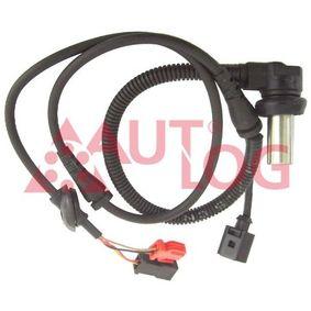 ABS Sensor VW PASSAT Variant (3B6) 1.9 TDI 130 PS ab 11.2000 AUTLOG Sensor, Raddrehzahl (AS4009) für