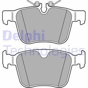 Brake Pad Set, disc brake Height 2: 56mm, Height: 59mm, Thickness 1: 16mm, Thickness 2: 16mm with OEM Number LR123595