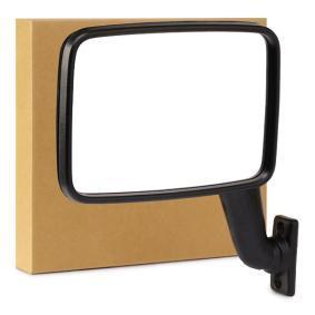 RIDEX Espejo lateral derecha, manual, plano, negro