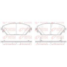 Brake Pad Set, disc brake Height: 55,8mm, Thickness: 15,8mm with OEM Number BHY13328ZA