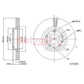 Bremsscheibe Bremsscheibendicke: 25mm, Lochanzahl: 5, Ø: 300,1mm mit OEM-Nummer G33Y-33-25X