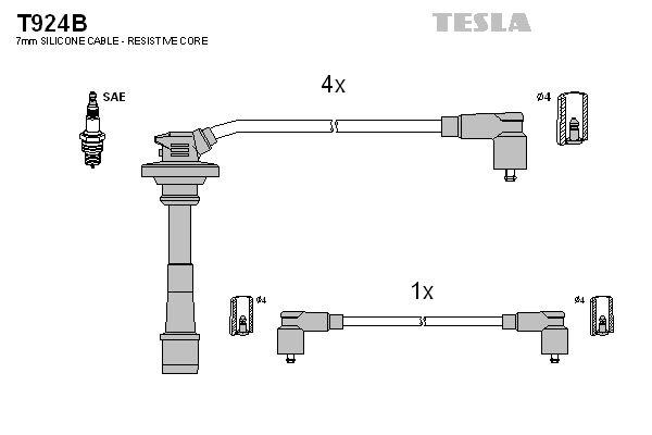 TESLA  T924B Juego de cables de encendido