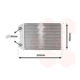 Wärmetauscher, Innenraumheizung Kunststoff, Aluminium mit OEM-Nummer 64 11 1 497 527