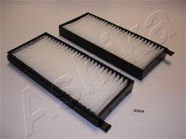 ASHIKA  21-SS-S04 Filter, Innenraumluft Länge: 220mm, Breite: 98mm, Höhe: 25mm