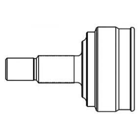 Gelenksatz, Antriebswelle Außenverz.Radseite: 27, Innenverz. Radseite: 25 mit OEM-Nummer 495013A210