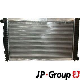 JP GROUP Kühler, Motorkühlung 1114204300 für AUDI A6 (4B2, C5) 2.4 ab Baujahr 07.1998, 136 PS