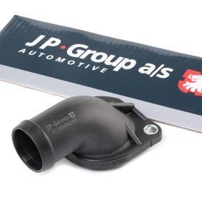 JP GROUP Kühlmittelflansch 1114506200 für AUDI 100 (44, 44Q, C3) 1.8 ab Baujahr 02.1986, 88 PS