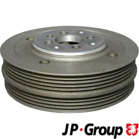 JP GROUP Riemenscheibe, Kurbelwelle 1118301900 für AUDI A4 (8E2, B6) 1.9 TDI ab Baujahr 11.2000, 130 PS