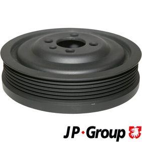 JP GROUP Riemenscheibe, Kurbelwelle 1118302500 für AUDI A4 (8E2, B6) 1.9 TDI ab Baujahr 11.2000, 130 PS