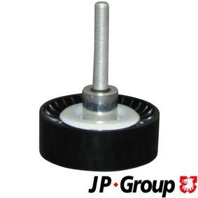 Polo 6r 1.4 (6R1) Umlenk- / Führungsrolle, Keilrippenriemen JP GROUP 1118304600 (1.4 (6R1) Benzin 2010 CGGB)