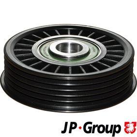 Umlenk-/Führungsrolle, Keilrippenriemen VW PASSAT Variant (3B6) 1.9 TDI 130 PS ab 11.2000 JP GROUP Umlenk-/Führungsrolle, Keilrippenriemen (1118304700) für