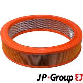 JP GROUP Luftfilter 1118601300 für AUDI 100 (44, 44Q, C3) 1.8 ab Baujahr 02.1986, 88 PS