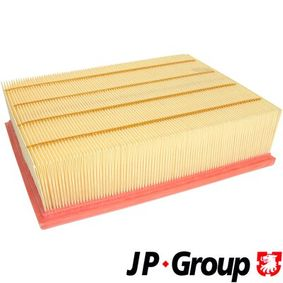 JP GROUP Luftfilter 1118601600 für AUDI A4 (8E2, B6) 1.9 TDI ab Baujahr 11.2000, 130 PS
