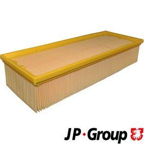Luftfilter Länge: 345mm, Breite: 136mm, Höhe: 70mm, Länge: 345mm mit OEM-Nummer 1K0129620 D