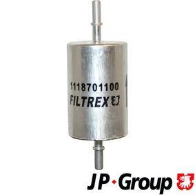 Touran 1T1, 1T2 2.0FSI Kraftstofffilter JP GROUP 1118701100 (2.0 FSI Benzin 2003 AXW)
