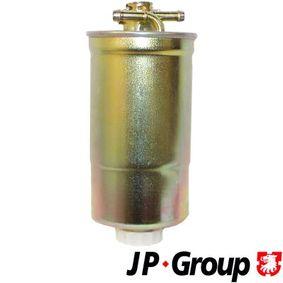 JP GROUP Kraftstofffilter 1118702500 für AUDI A4 (8E2, B6) 1.9 TDI ab Baujahr 11.2000, 130 PS
