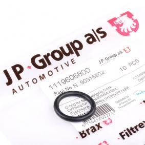 JP GROUP Dichtung, Kühlmittelflansch 1119606800 für AUDI 100 (44, 44Q, C3) 1.8 ab Baujahr 02.1986, 88 PS
