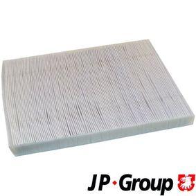 Filter, Innenraumluft Länge: 280mm, Breite: 206mm, Höhe: 25mm mit OEM-Nummer 1 H0 819 644 A