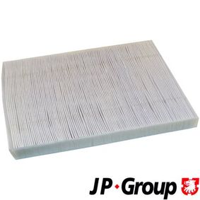 Filter, interior air Length: 280mm, Width: 206mm, Height: 25mm with OEM Number 1H0819644