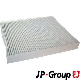 Filter, Innenraumluft Länge: 252mm, Breite: 216mm, Höhe: 32mm mit OEM-Nummer 463 830 0018