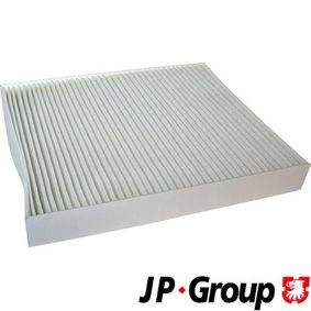 Filter, interior air Length: 252mm, Width: 216mm, Height: 32mm with OEM Number 6Q0820367